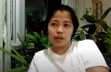 Thai activist Mook, Anti-Government protest in October 2020